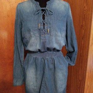Guess blue jean dress size Medium